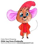How to Draw Chibi Jaq from Cinderella