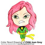 How to Draw Chibi Jean Grey