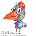 How to Draw Chibi Jim Crow from Dumbo