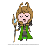How to Draw Chibi Loki