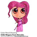 How to Draw Chibi Megara from Hercules