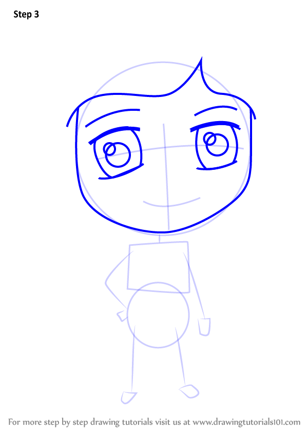 Learn How To Draw Chibi Mel Jones From Coraline Chibi Characters Step By Step Drawing Tutorials