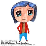 How to Draw Chibi Mel Jones from Coraline