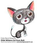 How to Draw Chibi Mittens Cat from Bolt