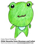 How to Draw Chibi Nanette from Gnomeo and Juliet