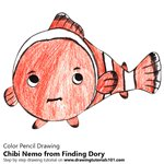 How to Draw Chibi Nemo from Finding Dory