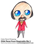 How to Draw Chibi Perez From Despicable me 3