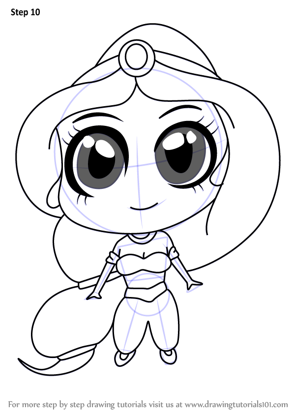 Learn How To Draw Chibi Princess Jasmine Chibi Characters