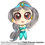 How to Draw Chibi Princess Jasmine