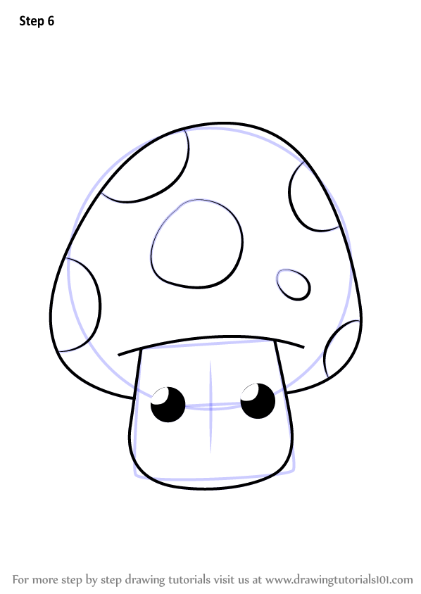 how to draw a shroom step by step