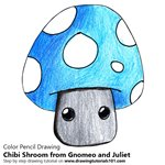 How to Draw Chibi Shroom from Gnomeo and Juliet