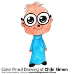 How to Draw Chibi Simon from Alvin and the Chipmunks