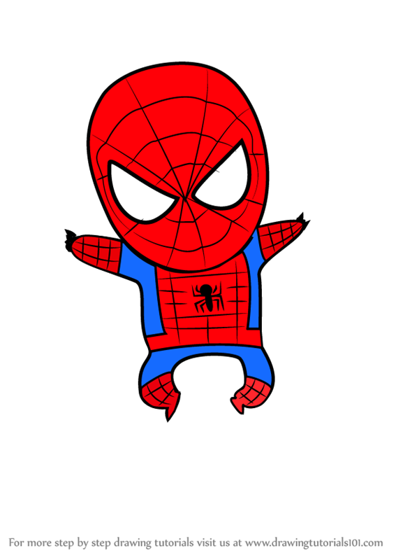 Learn How To Draw Chibi Spiderman Chibi Characters Step By Step