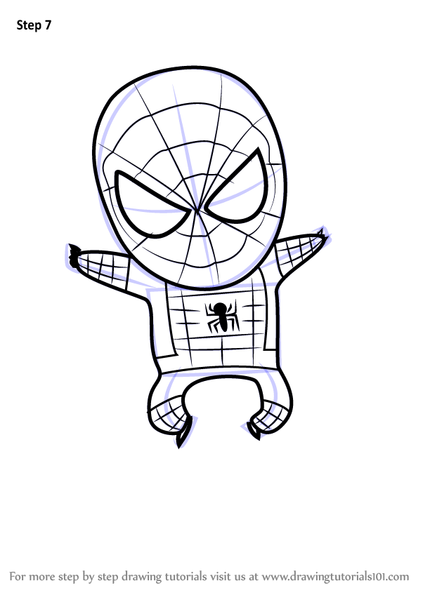 learn how to draw chibi spiderman  chibi characters  step