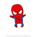 How to Draw Chibi Spiderman