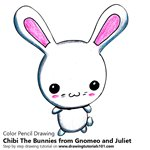 How to Draw Chibi The Bunnies from Gnomeo and Juliet