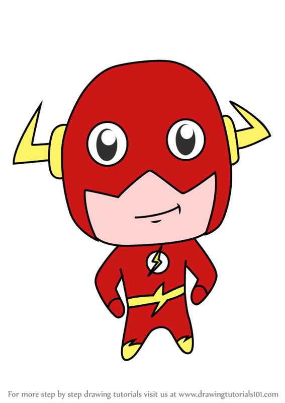 learn how to draw chibi the flash chibi characters step by step