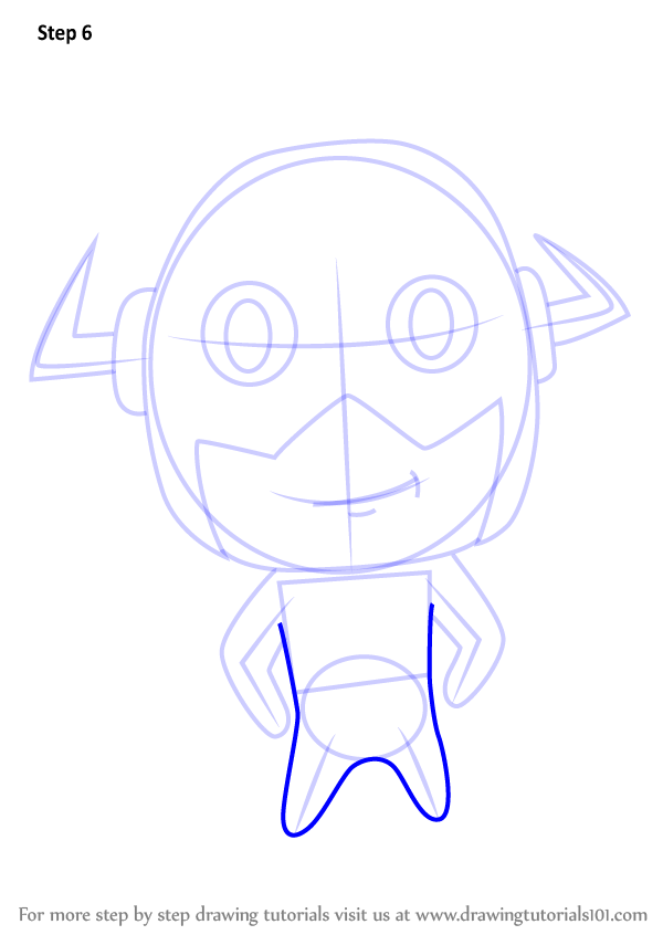 Learn How To Draw Chibi The Flash Chibi Characters Step