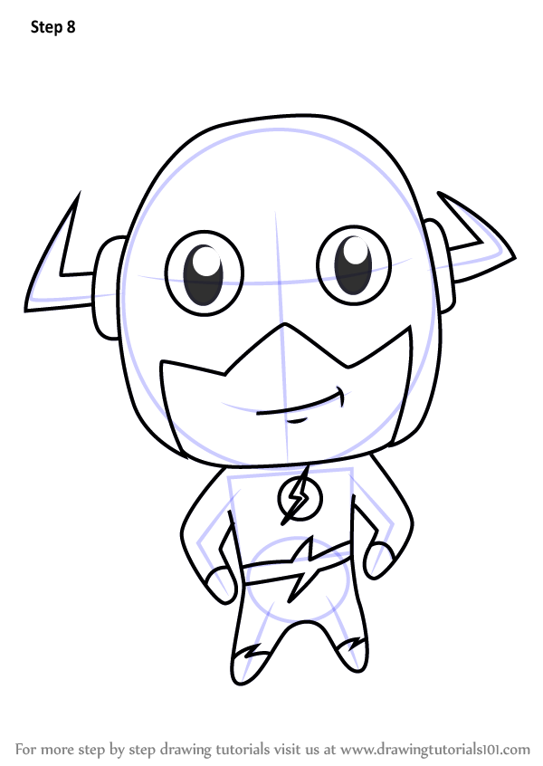 Learn How To Draw Chibi The Flash (Chibi Characters) Step