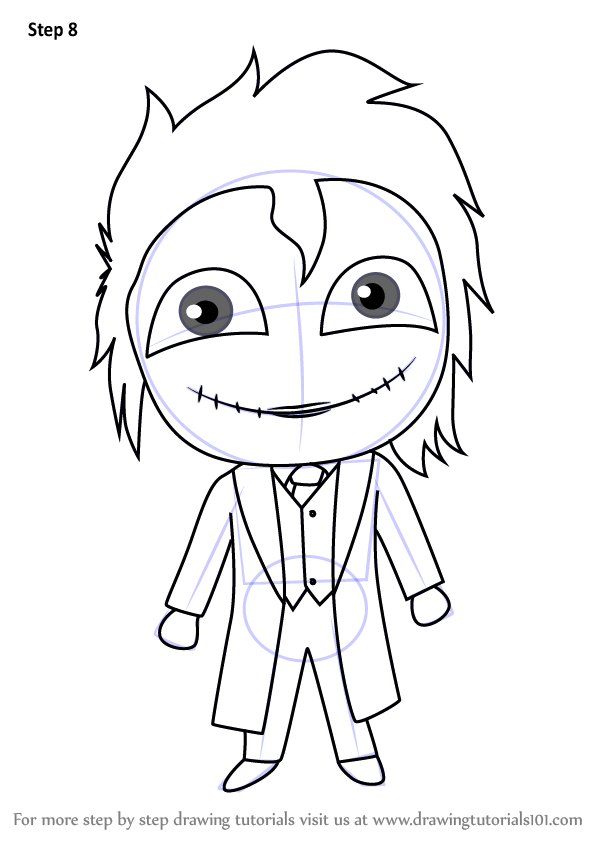 Learn How To Draw Chibi The Joker Chibi Characters Step