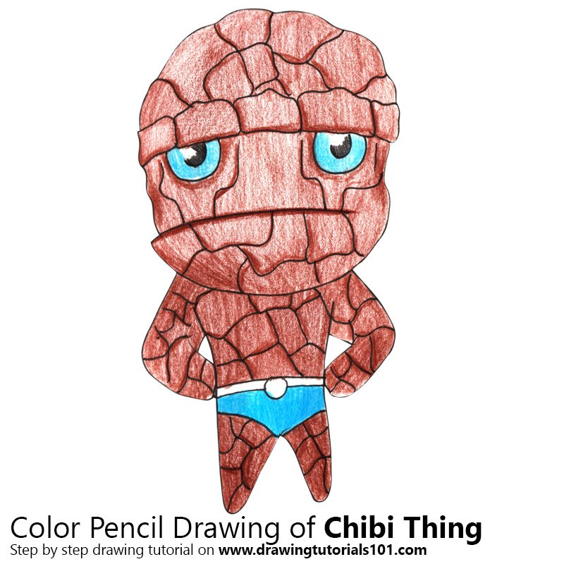 Chibi Thing Color Pencil Drawing