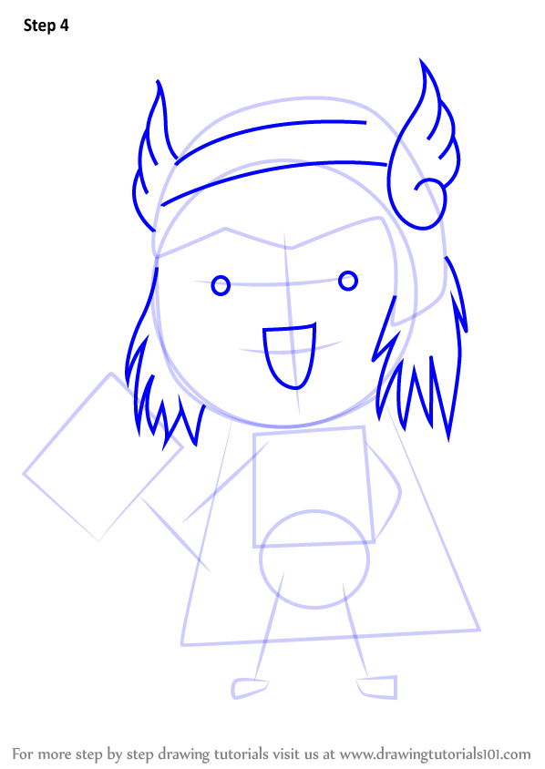 Learn How to Draw Chibi Thor (Chibi Characters) Step by ... | 598 x 844 png 49kB