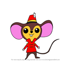 How to Draw Chibi Timothy Q. Mouse from Dumbo