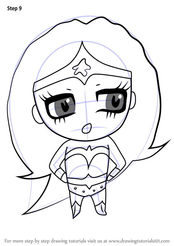 Learn How To Draw Chibi Wonder Woman Chibi Characters