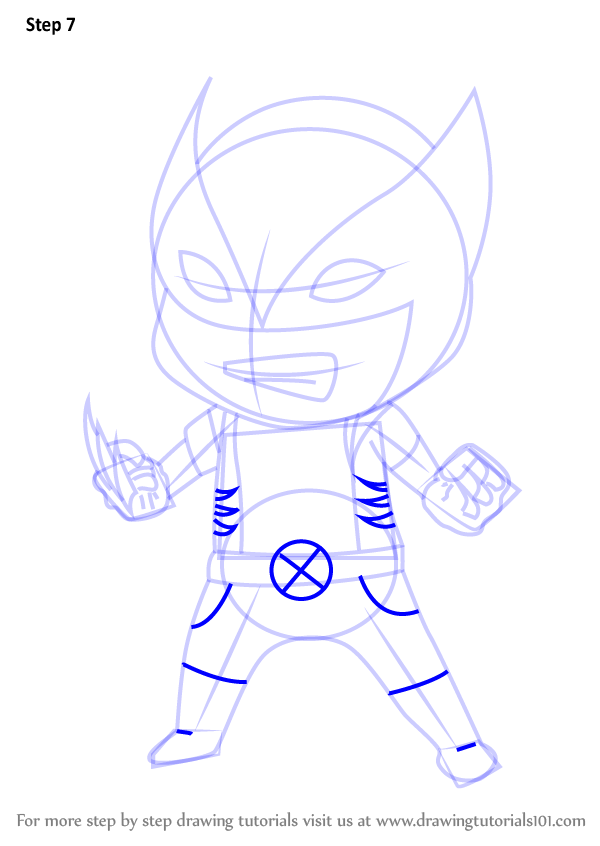 learn how to draw chibi xmen chibi characters step by