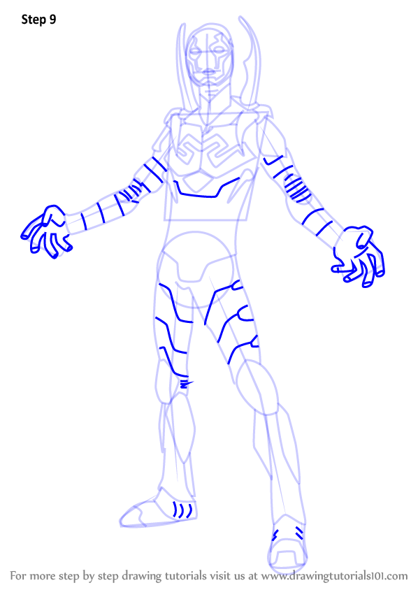 Learn How to Draw Blue Beetle (DC Comics) Step by Step ...