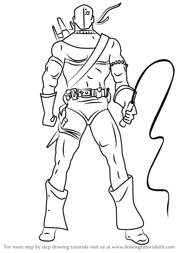 Learn How To Draw Deathstroke Dc Comics Step By Step