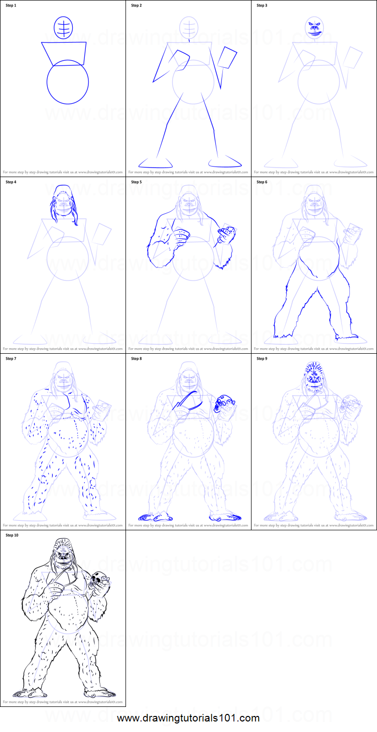 Uncategorized How To Draw A Gorilla Step By Step how to draw gorilla grodd printable step by drawing sheet grodd