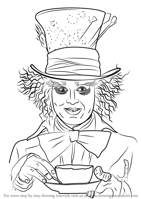 learn how to draw mad hatter dc comics step by step
