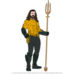 How to Draw Aquaman from DCEU