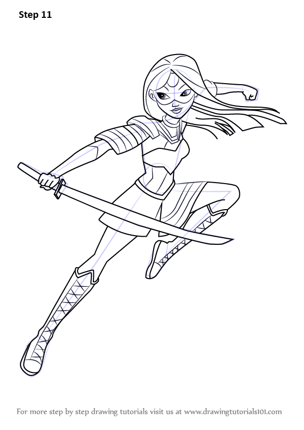 Learn How to Draw Katana from DC Super Hero Girls DC