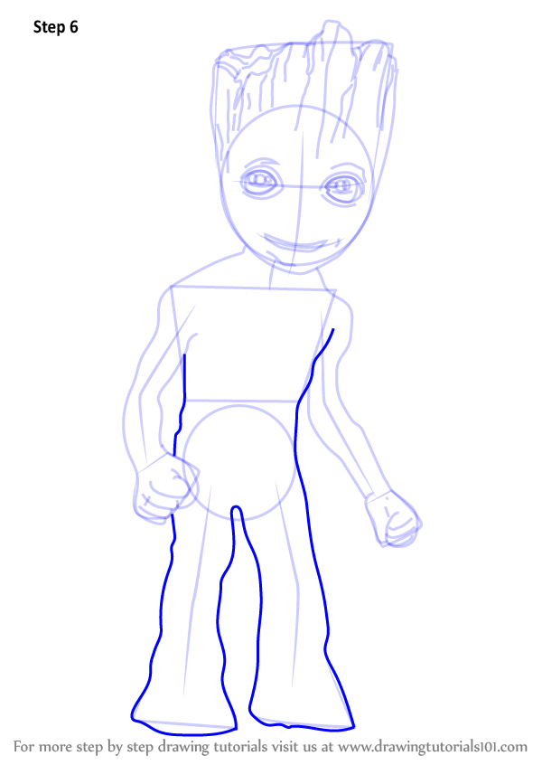Learn How To Draw Baby Groot Marvel Comics Step By Step Drawing