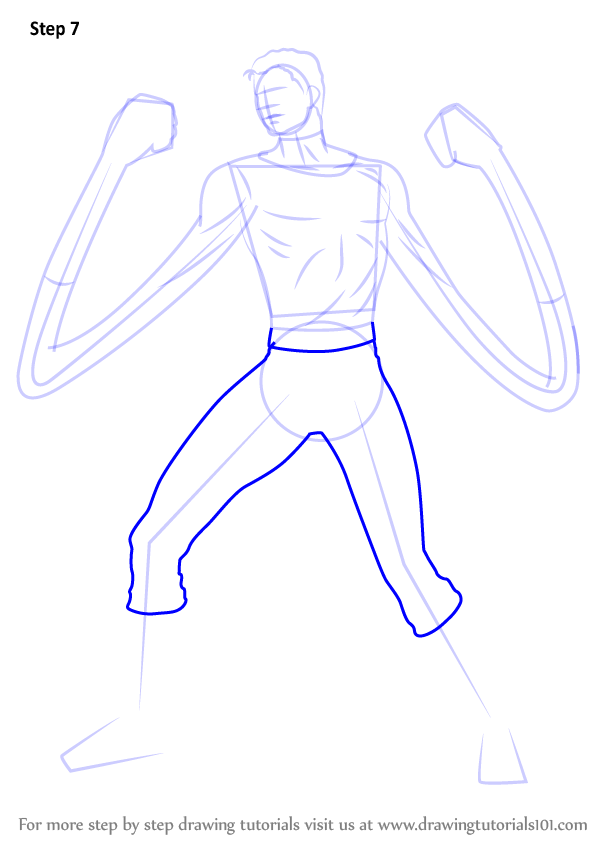 Learn How To Draw Mister Fantastic Marvel Comics Step By
