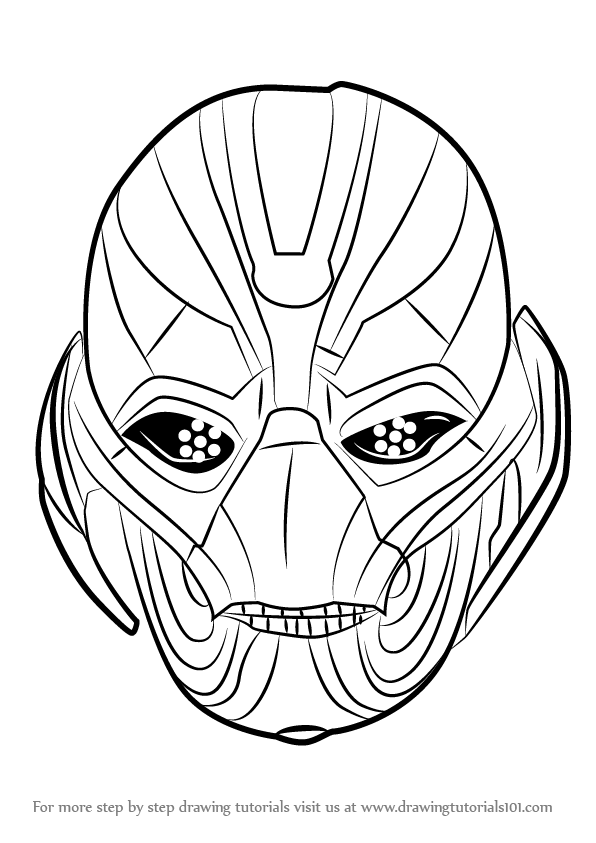 Learn How to Draw Ultron Face Marvel