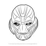 How to Draw Ultron Face