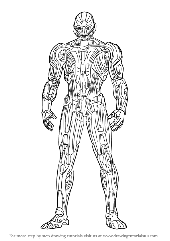 Learn How To Draw Ultron Marvel Comics Step By Step