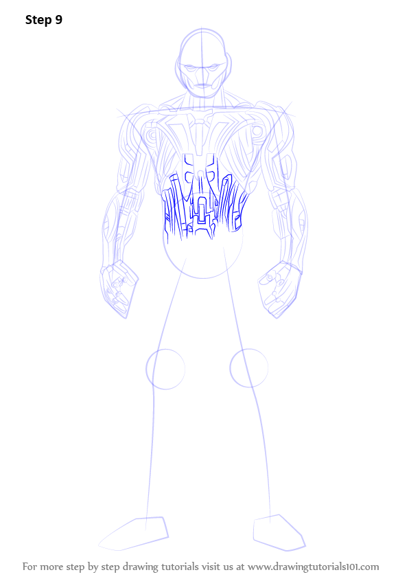 how to draw ultron easy