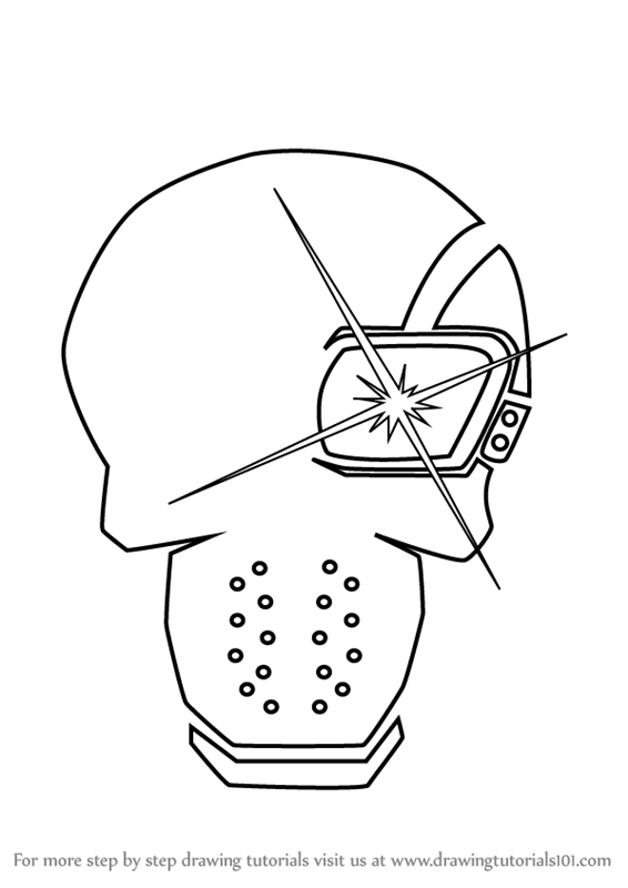 Deadshot Mask Coloring Pages