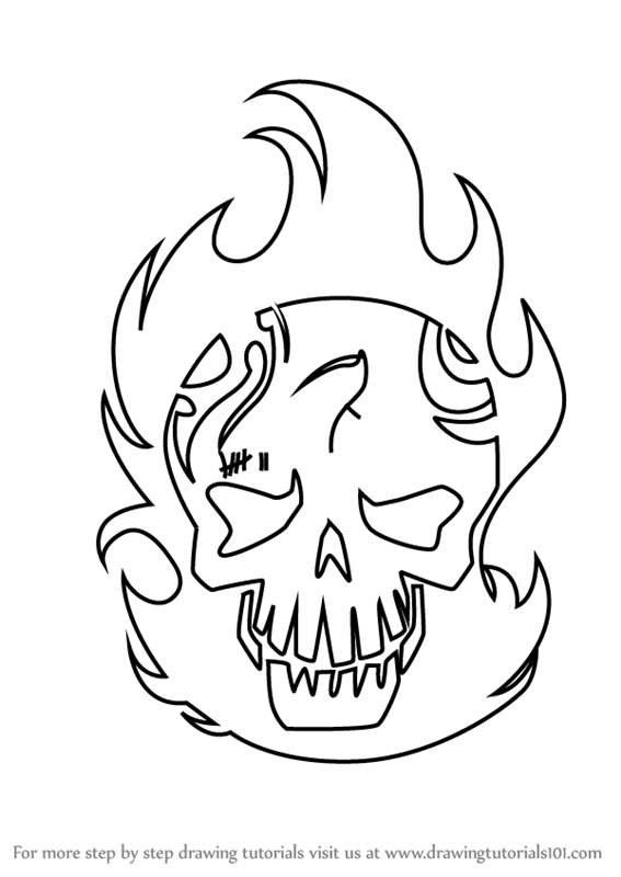 how to draw suicide squad skulls