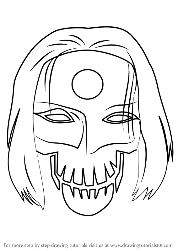 Learn how to draw katana from suicide squad suicide squad for Suicide squad coloring pages