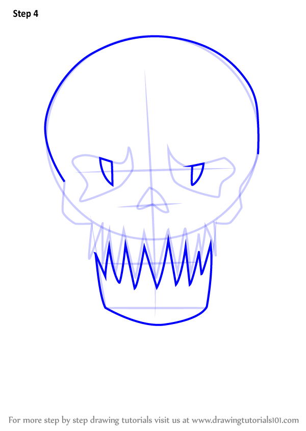how to draw suicide squad skulls step by step
