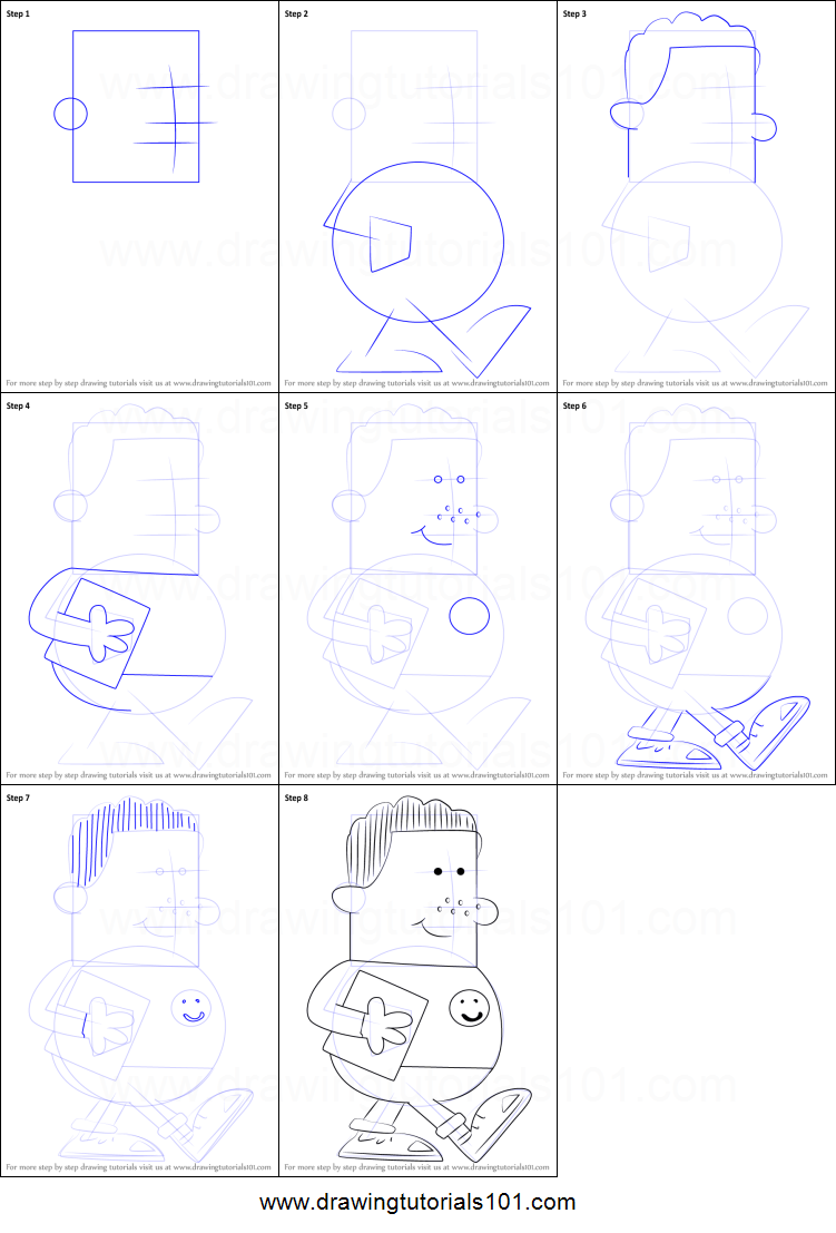 how to draw chad applewhite from big nate printable step
