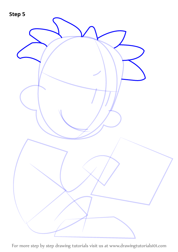 Step By Step How To Draw Nate Wright From Big Nate