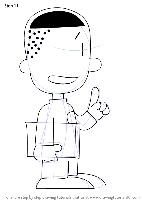 Step By Step How To Draw Teddy From Big Nate