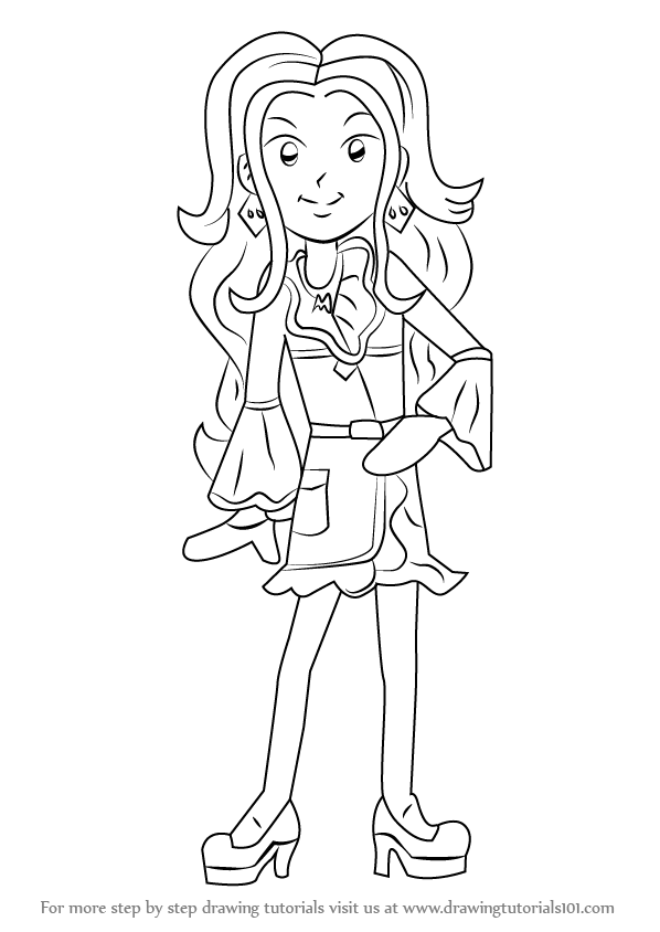 How To Draw Mackenzie Hollister From Dork Diaries on circle skirt