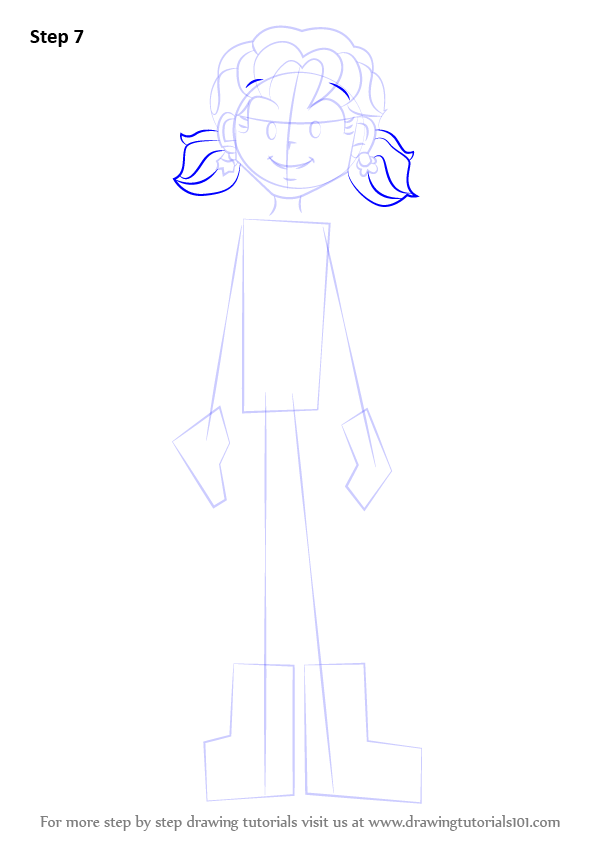 step by step how to draw nikki maxwell from dork diaries
